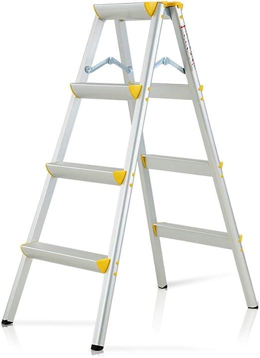 Escalera Taburete 4 Pasos Plegable Aluminio Resistente de Acero Portátil Antideslizante Estera Pisada Compacto 150 Kg Capacidad: Amazon.es: Hogar