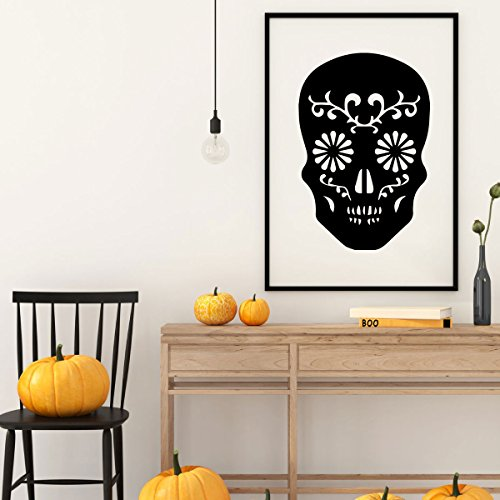Halloween Decoration - Skeleton Wall Decal - Fall Vinyl Decor for the Home, Office Or Dorm -