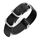 MYECOGO Watch Band with Colorful Nylon Material Strap, NATO Strap and Heavy Duty Brushed Buckle