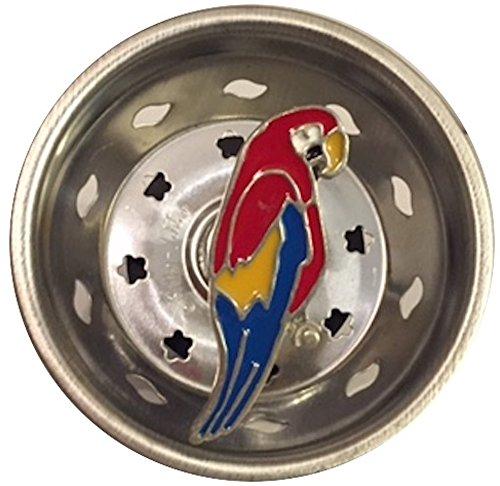 PARROT macaw bird SINK STRAINER drain KITCHEN decor (Kitchen Sink Strainer Pewter)