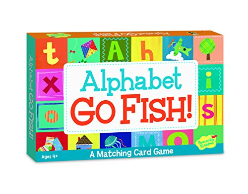Peaceable Kingdom Alphabet Go Fish Letter Matching Card Game - 52 Cards with Box -