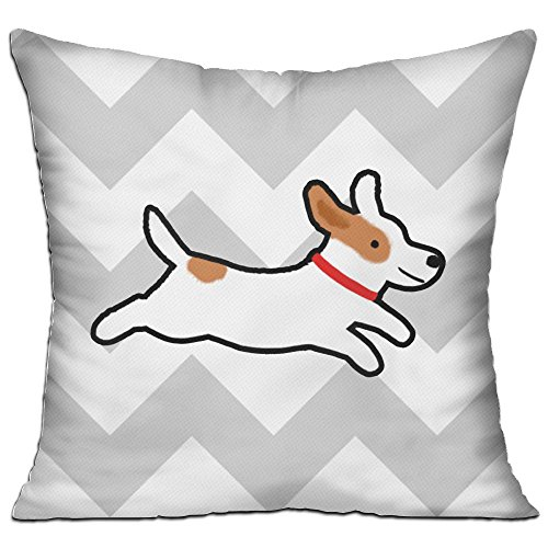 Throw Pillows Cute Jack Russell Terrier - Cushion Include Pillow Cover And Insert, DKRetro Square 18