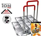 2 x Dance Dance Revolution Limited Edition iON Pro Arcade Metal Dance Pad with Handle Bar for PS2 +