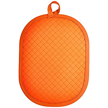 Rachael Ray Pot Holder & Trivet With Silicone Grip, Orange