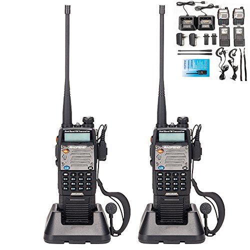 (BaoFeng UV-5R Upgrade Version UV-5XP Extended Battery VHF UHF Two Way Radio 7.4v 8W Dual-Band Walkie Talkie 2 Pack)