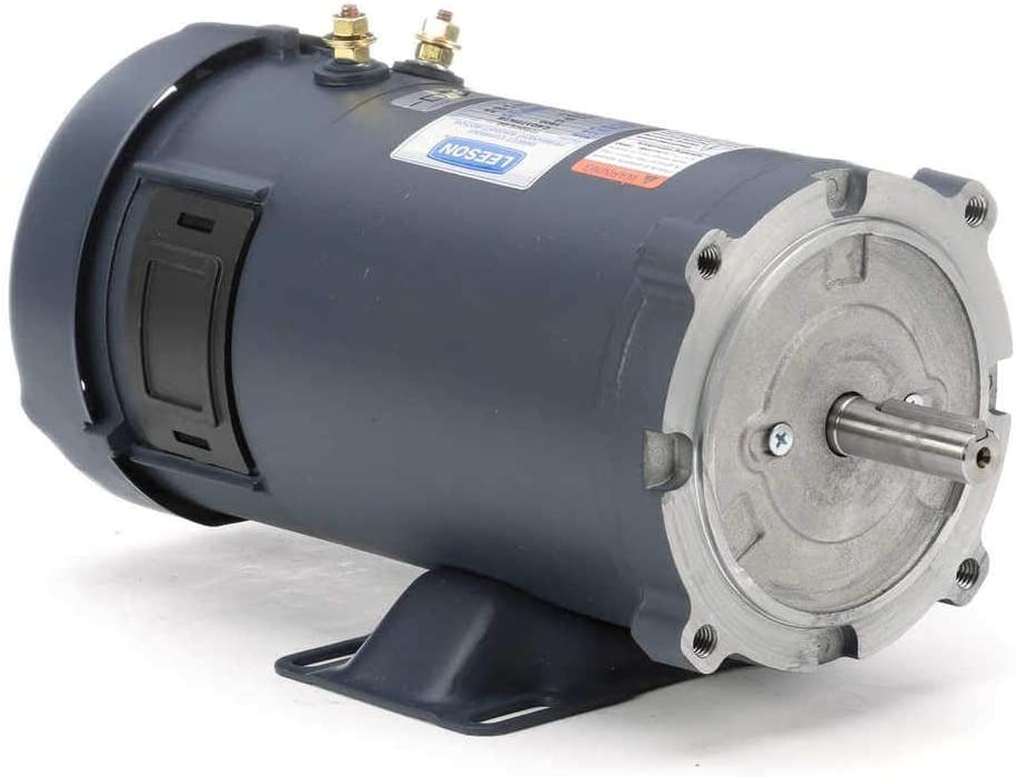 Leeson 12 Volt DC Electric Motor - 3/4 HP, 1,750 RPM, 58 Amps, Model Number 108048