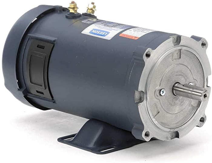 Leeson 12 Volt DC Electric Motor - 3/4 HP, 1,750 RPM, 58 Amps, Model Number 108048