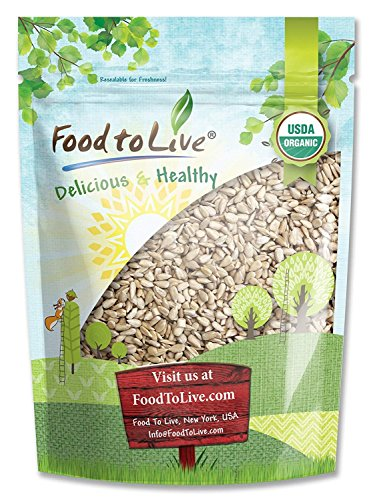 Organic Sunflower Seeds by Food to Live (Raw, Kernels, No Shell, Kosher, Bulk) — 5 Pounds
