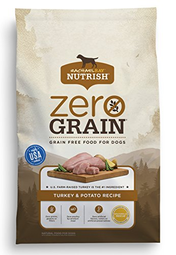 Rachael Ray Nutrish Zero Grain Natural Dry Dog Food, Turkey & Potato Recipe, Grain Free, 14 lbs