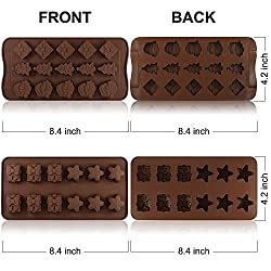 4 Pack Silicone Chocolate Candy Molds Trays, Danzi