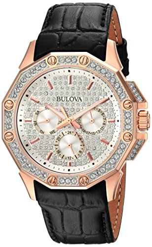 Bulova Men's  98C125  Swarovski Crystal Strap Watch