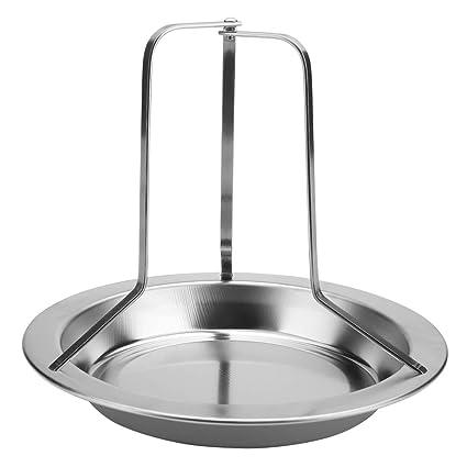 DGTRHTED Accesorios para Barbacoa - 1 Pieza de Acero Inoxidable asador Vertical para Pollo asador asador