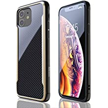 iPhone 11 Case | Shockproof | 12ft. Drop Tested | Carbon Fiber Case | Wireless Charging | Lightweight | Scratch Resistant | Compatible with Apple iPhone 11 - Gold