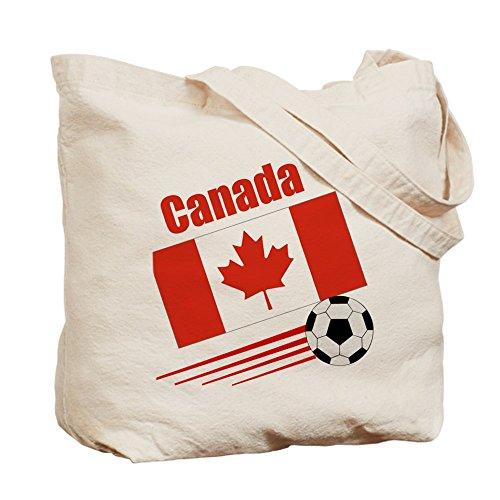 Cafepress–Canada Soccer Team–Borsa di tela naturale, tessuto in iuta