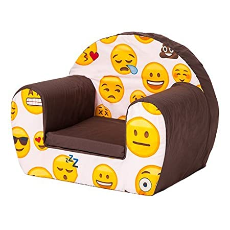 Colourful Childrens Comfy Foam Armchair in Yellow Soft Comfortable /& Lightweight with a Removeable Cover Soft Toy Not Included