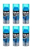 (6-Pack) Gillette Mach3 Shaving Gel Cream Extra Comfort Travel Size 72mL 2.5oz (6 Packs)