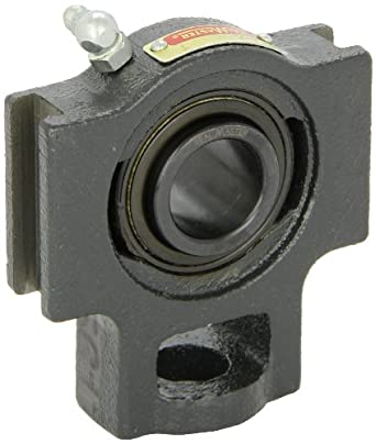 "Sealmaster ST-16 Take-Up Unit, Standard Duty, Regreasable, Setscrew Locking Collar, Felt Seals, Cast Iron Housing, 1"" Bore, 17/32"" Slot Width, 3"" Between Frames"