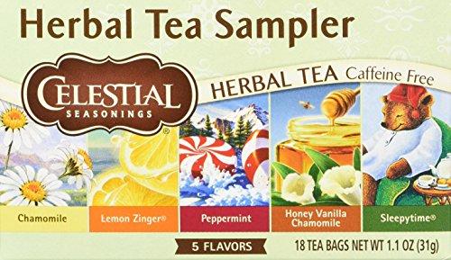 Celestial Seasonings Herbal Tea Sampler with 5 Flavors 18 ea (Pack of 2)