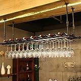 MXueei ZfgG Wine Glass Rack,Shelf Wine Glass Holder,Wine Glass Rack, Champagne Glass Rack,Glassware Rack Wine Rack,Goblet Glass Rack,Glassware Wine Rack, (Color : Black, Size : 10030cm)