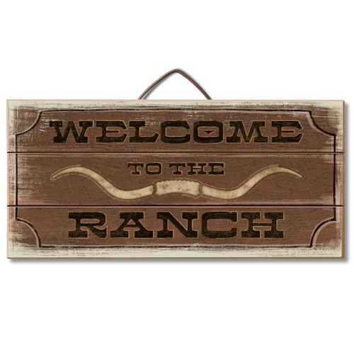 Welcome To The Ranch Reclaimed Wood Pallet Sign - Made in USA!