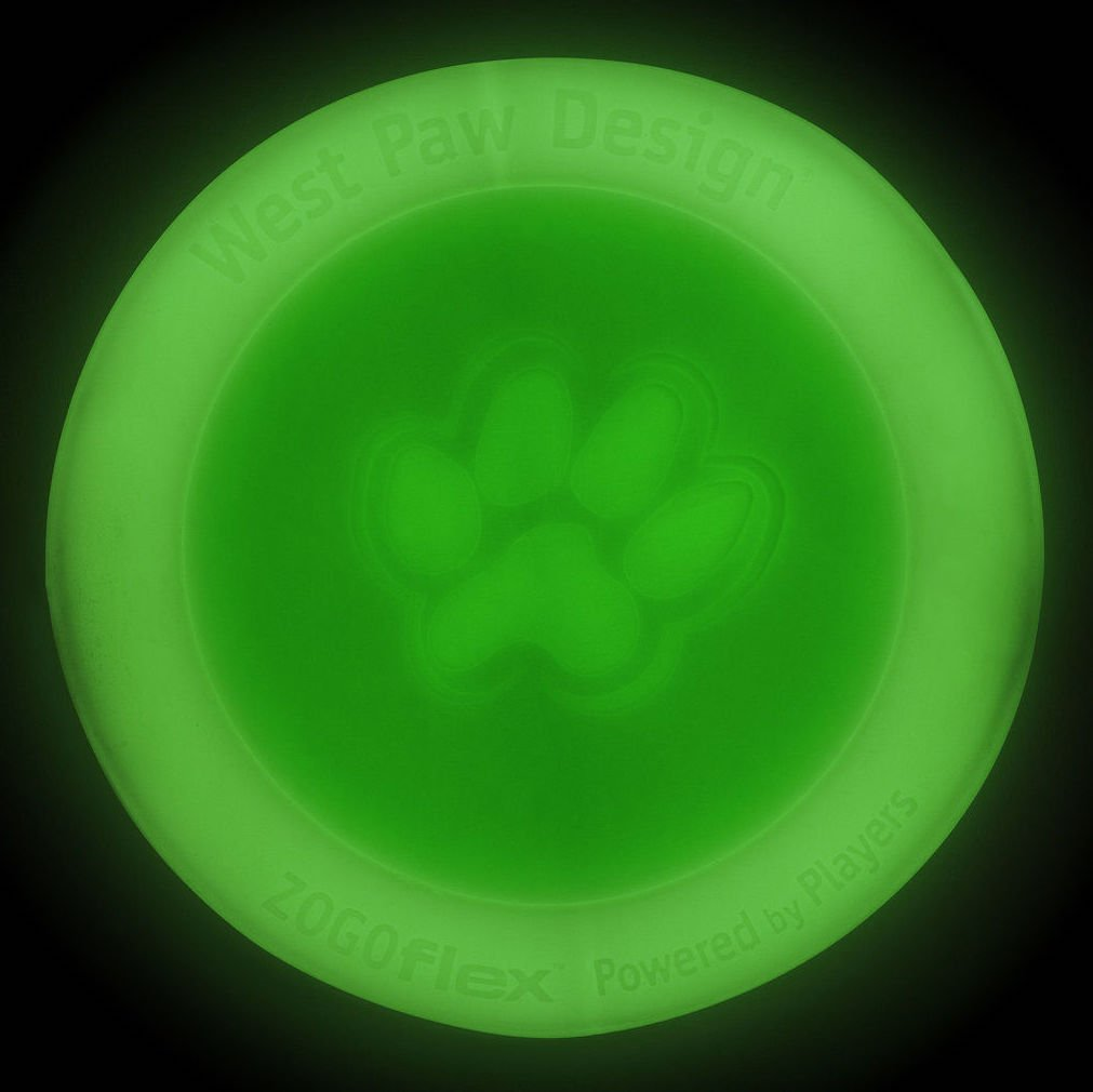 West Paw Zisc Disc Frisbee 6.5'' - Durable, Made in the USA-Small Glow in the Dark Non-Toxic Frisbee Flyer Disc Dog Toy