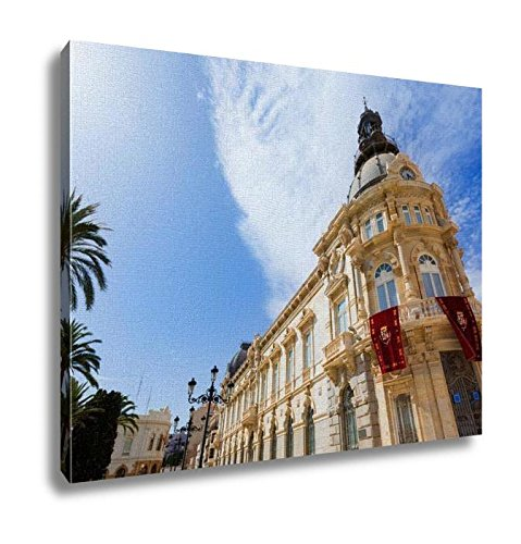 Ashley Canvas, Ayuntamiento De Cartagena City Hall At Murcia Spain, Kitchen Bedroom Dining Living Room Art, 24x30, - Center Cartagena Usa