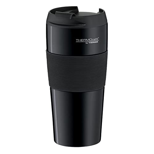 Thermos ThermoCafé by 4056.205.040 Mug Isotherme Thermopro, 0,4 l, en Acier Inoxydable, Noir, Acier Inoxydable, Noir, 8,5x8,5x18 cm
