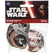 Wilton 2113-5080 24 Count Star Wars Fun Pix, Black