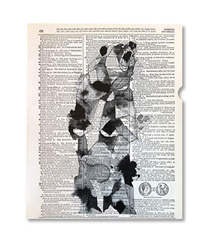 Bear Neccessities Upcycled Vintage Dictionary Art Print 8x10 UNFRAMED Instinct -