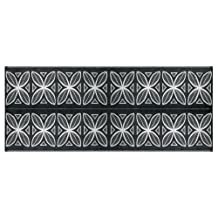 Camco 42833 Reversible Outdoor Mat, 8-Feet x 20-Feet, Charcoal Botanical