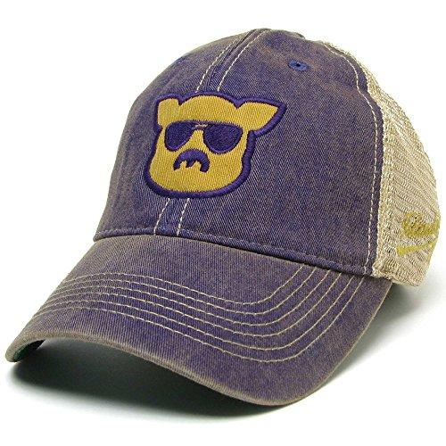 Islanders Pig Face Geaux Tigers LSU Trucker Hat, Geaux Tigers LSU Purple/Gold, One Size (Pig Face)