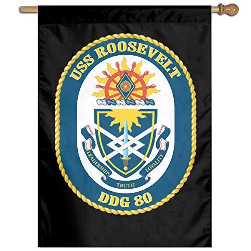 (Navy USS Roosevelt DDG-80 Yard Banner Flags Springtime 27