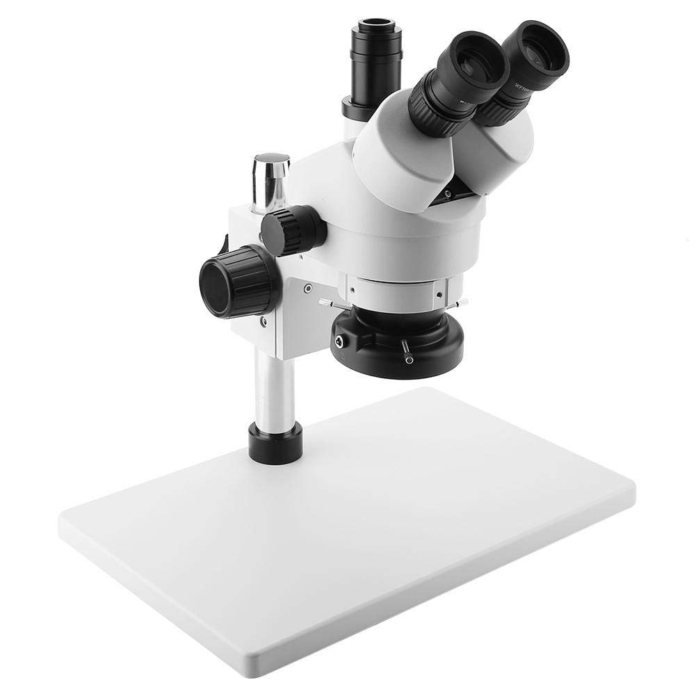 Trinocular Microscope, 3.5 to 90X Trinocular Stereo Zoom Microscope with Wide-Field 10X / 20mm Eyepieces 30-165mm Working Distance Camera-Compatible(US Plug) by Pokerty