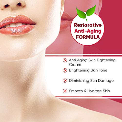 Neck Cream With Advanced Anti Aging Complexes and Peptides, Best Day and Night Anti Wrinkle Cream for Women and Men - First Visible Results in 6 Weeks, 2oz, Helps Loose Sagging Skin On Neck&Décolleté