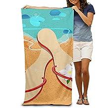 Richmond Takila Beach Sandals Travel Beach Towel Mens Beach Towel - 30 X 50-Inch Ultra Portable, Lightweight Great For The Pool And The Beach