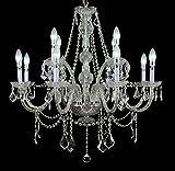 Top Lighting Crystal Chandelier Chrome Finish 12-Light Pendant Ceiling Lighting For Sale