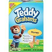 Teddy Grahams Honey Graham Snacks, 10 Ounce (Pack of 6)