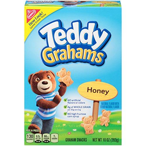 Teddy Grahams Honey Graham Snacks, 10 Ounce (Nabisco Teddy Grahams)
