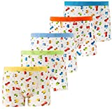 Cotton Underwear Boys Toddler Boxer Briefs Underwear Mix Color 5 Pack (AL001-XL)