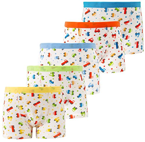 Cotton Underwear Boys Toddler Boxer Briefs Underwear Mix Color 5 Pack (AL001-XL) (Soft Mix Cotton)