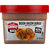Campbell s Chunky Maxx Soup, Bison Bacon Burger with Carrots and Potatoes, 15.5 oz (Pack of 8) (Packaging May Vary)