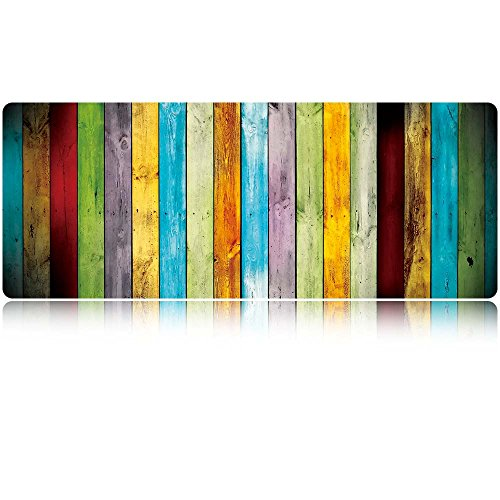 LIEBIRD 36x14 Colour Wood Extra Large Desk Pad/Extended Protective Gaming Office Desk Mouse Mat (Wood)