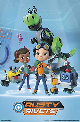 "Trends International Rusty Rivets-Group Clip Bundle Wall Poster 22.375"" x 34"" Multi"