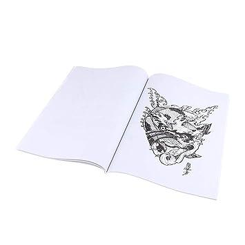 Toygogo 51 Páginas Libro De Tatuajes Tatuaje Manuscrito Body Art ...