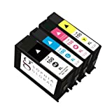 Sophia Global Remanufactured Ink Cartridge Replacement for Lexmark 100XL (1 Black, 1 Cyan, 1 Magenta, 1 Yellow)