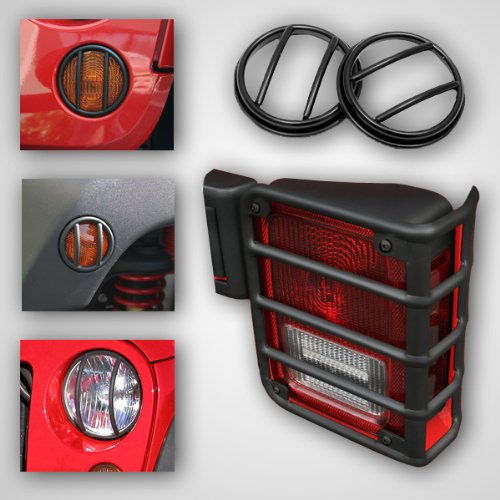 Rugged Ridge 12496.02 Black Euro Light Guard Kit