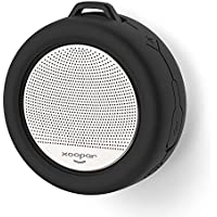Ultra Portable Bluetooth Shower Speaker with Suction Cup Mount - IP65 Waterproof - Auto Shutoff - Rechargeable Battery