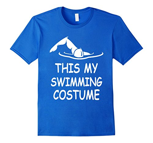 [Mens Swimming Costume Funny T Shirt Small Royal Blue] (Male Swimming Costumes)