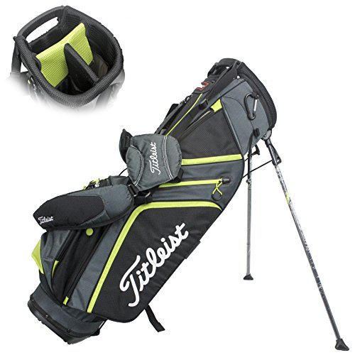 Titleist Ultra Light Stand Bag, Charcoal/Black/Lime by Titleist