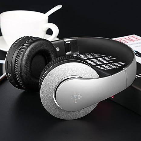Auriculares Auriculares Bluetooth Music Subwoofer Auriculares Inalámbricos Sports Headset Grey: Amazon.es: Electrónica